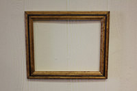 Frame with red mahogany wood insert