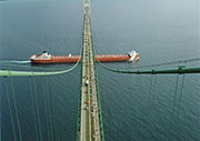 Above the Mackinac Bridge